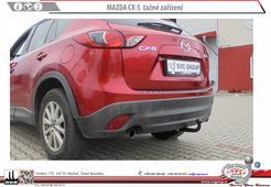 Tažné zařízení Mazda CX5 zaklopená auto zásuvka