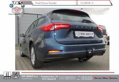 Ford Focus Kombi levné tažné zařízení vertikální bajonet 10 2018 ->