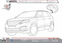 Peugeot 3008 tažné od českého výrobce tažných zařízení