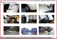Citroen C5 Aircross podpora montáže tažné zařízení SVC GROUP