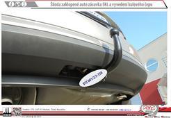 Škoda Fabia tažné zařízení detail vyvedení čepu