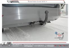 Škoda Fabia šroubové provedení   vyklopená auto zásuvka  faceliftovaná verze  odrazky v nárazníku  Výrobce SVC GROUP