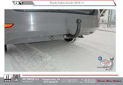 Škoda Fabia šroubové provedení   zaklopená auto zásuvka  faceliftovaná verze  odrazky v nárazníku  Výrobce SVC GROUP