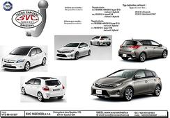 Levné tažné zařízení Toyota Auris E-15 10/2006- 09/2012