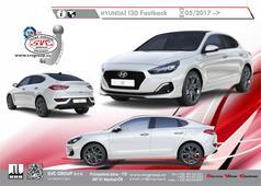 Hyundai i30 Fastback Tažné zařízení  Provedení na 2 šrouby       Rok výroby: 05/2017 ->