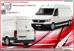 Volkswagen Crafter tažná zařízen - VAN,Skříň, Bus Pro vozidlo z nástupním schůdkem v zadním nárazníku  VW Crafter Van/Skříň/Bus      Provedení: Přírubový stavitelný čep   Parametry bržděný přívěs 3500kg/150kg      Rok výroby: 03/2017