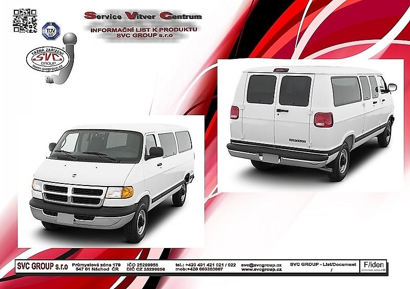 Dodge Ram Van vč. 4x4 né Stow´n go