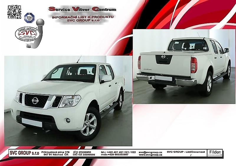Nissan NP300 Navara Bez trubkové ochrany pod nárazníkem