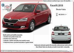 Škoda Fabia rozlišení modelu faceliftovaná verze vozu Výrobce SVC GROUP