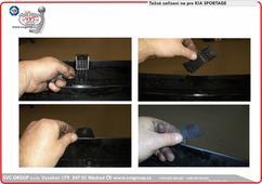 Odstranění plastového držáku v nárazníku Kia Sportage při montáži tažného zařízení na vozidlo