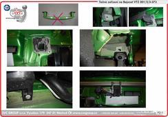 tažná zařízení podpora montáže na vozidlo  Škoda Fabia