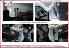 Kia Sportage tažný zařízení podpora montáže Český výrobce Tažných zařízení