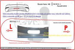 Výřez nárazníku není běžně vidět, je menší než požaduje a předznačuje v nárazníku výrobce vozu Škoda Fabia