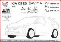 Kia Ceed tažný zařízení  Informace pro montáž naleznete v montážním návodě v technické kartě     Provedení: 2 šrouby    Rok výroby: 2018 -