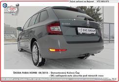 Škoda Fabia tažný zařízení  rok výroby 08/ 2018 ->  Demontovaný kulový čep z vozu   Výrobce SVC GROUP
