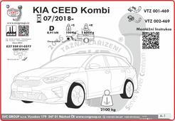 Podrobný montážní návod Kia Ceed Combi  Rok výroby: 07 / 2018 - výrobce tažných svcgroup.cz