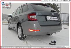 Tažné zařízení vertikální bajonet domontovaný z vozu Škoda Fabia kombi  tažné zařízení  rok výroby 08/2018->  Výrobce tažný zařízení SVC GROUP