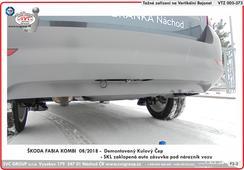 Tažné zařízení vertikální bajonet auto přípojka zaklopená pod nárazník vozu SKL  08/ 2018 ->  Výrobce tažný zařízení SVC GROUP