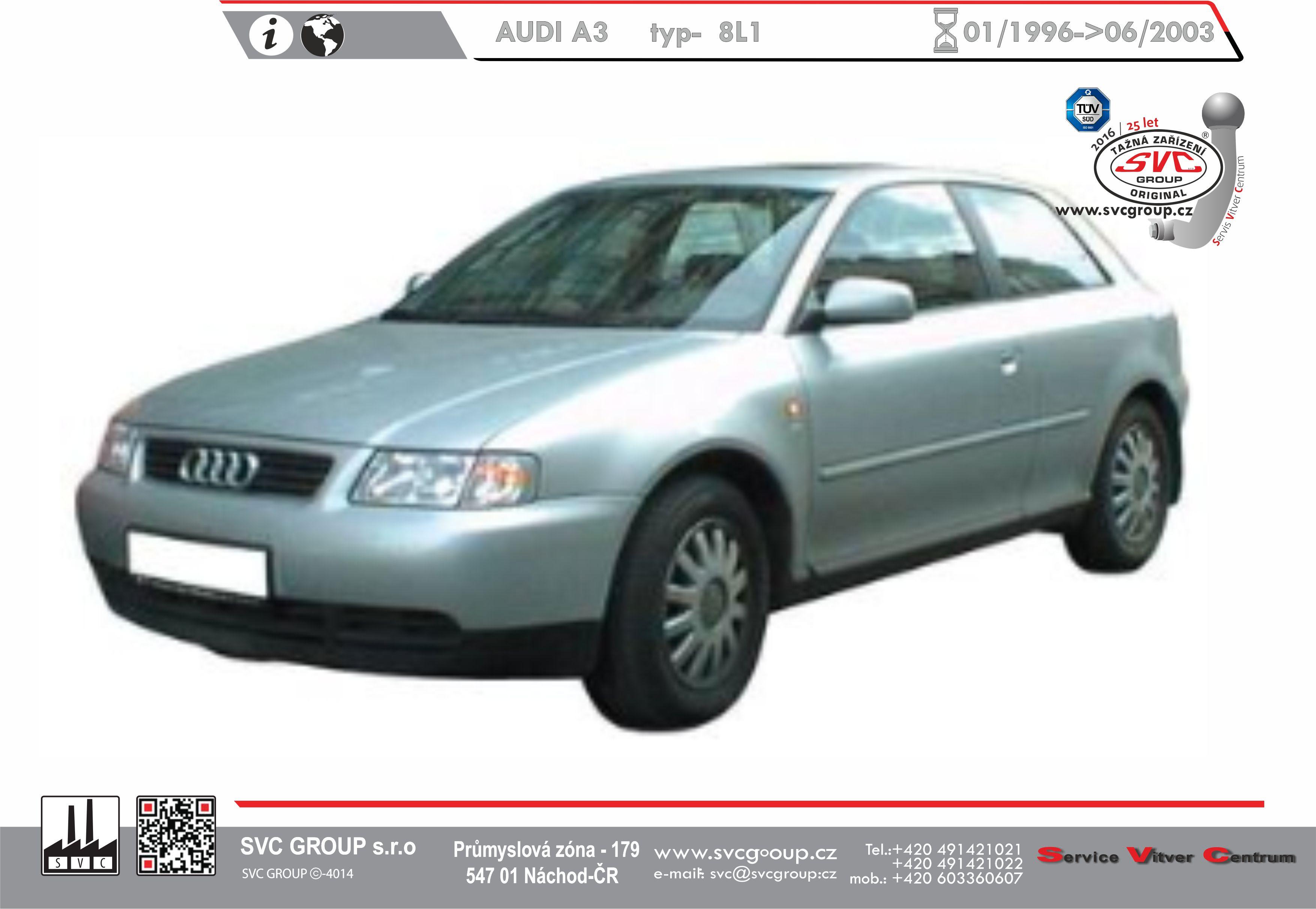 Audi A3 Hatchback ne 4x4 (1996-2003)