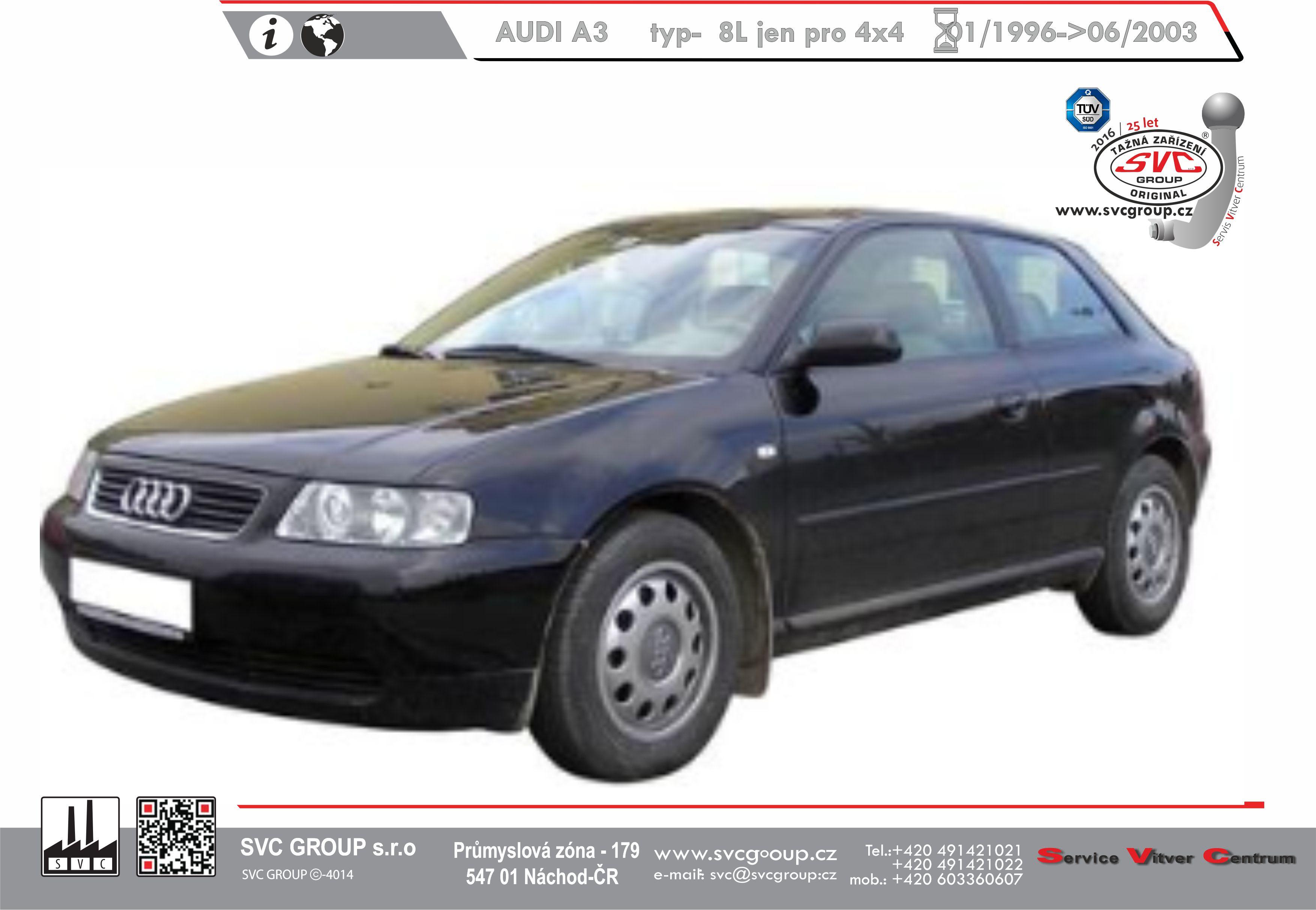 Audi A3 Hatchback pro 4x4  (1999->2003)