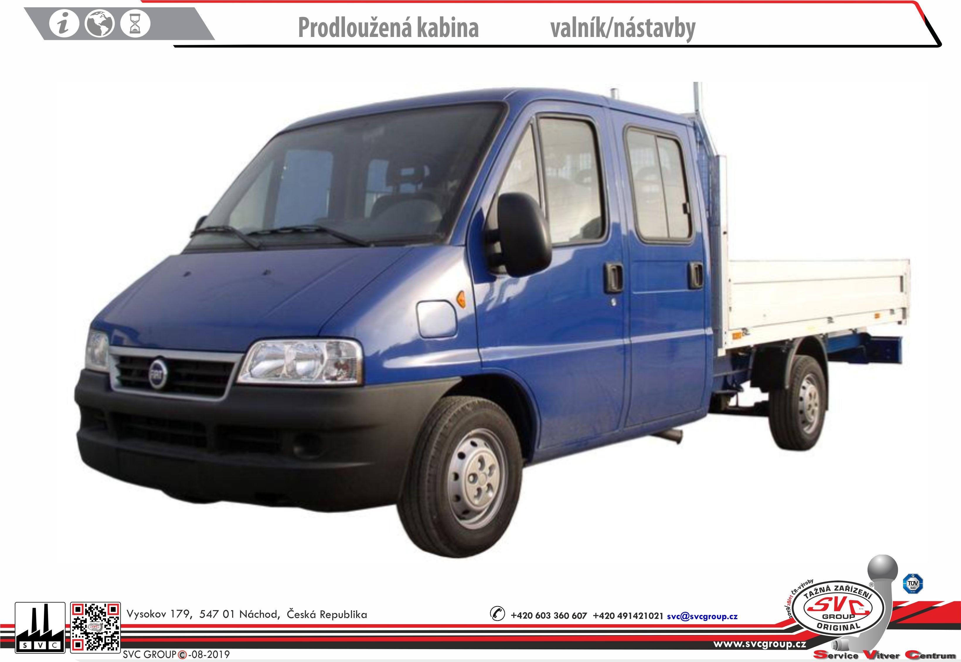 Fiat Ducato Valník / Podvozek
