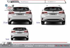 Ford Focus zadní část vozu  Rok výroby: 11 / 2018 Výrobce tažných zařízení SVC GROUP