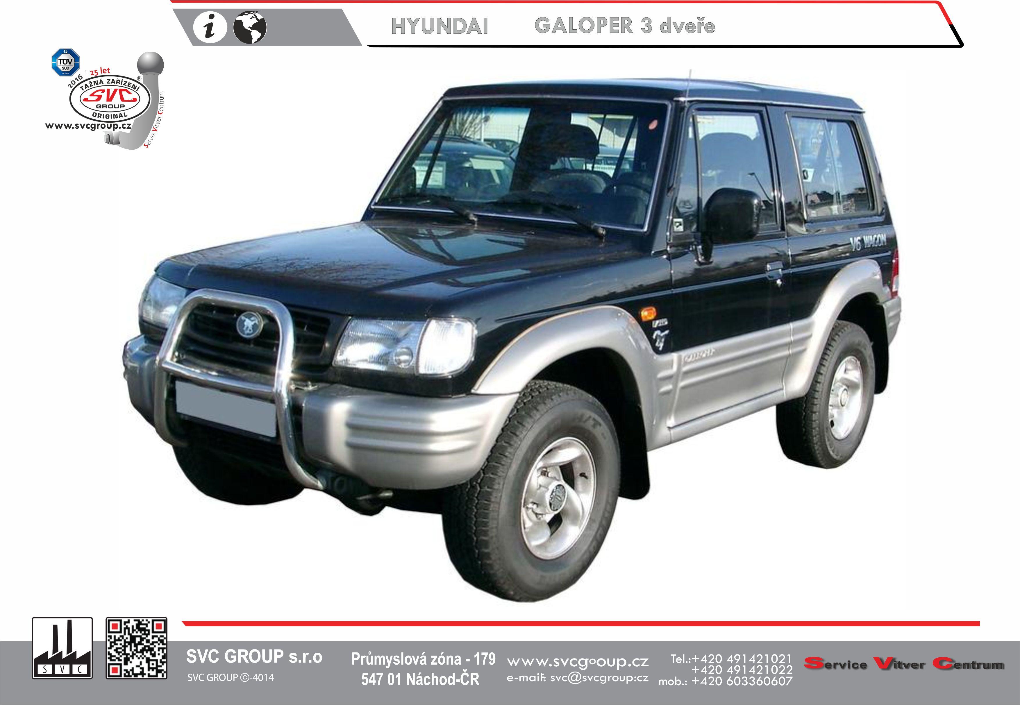 Hyundai Galloper 3 Dvéřový - Krátký