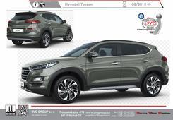 Hyundai Tucson 2015 levný tažák    Rok výroby: 07/2018 -  Boční pohled  Výrobce tažných zařízení SVC GROUP