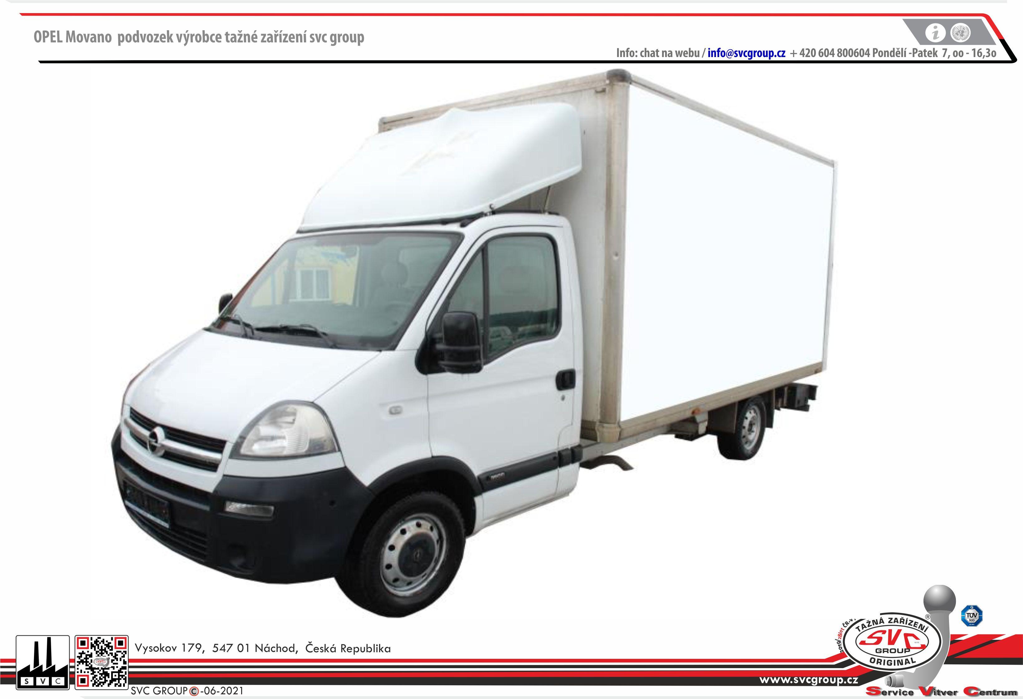 Opel Movano Valník/Podvozek