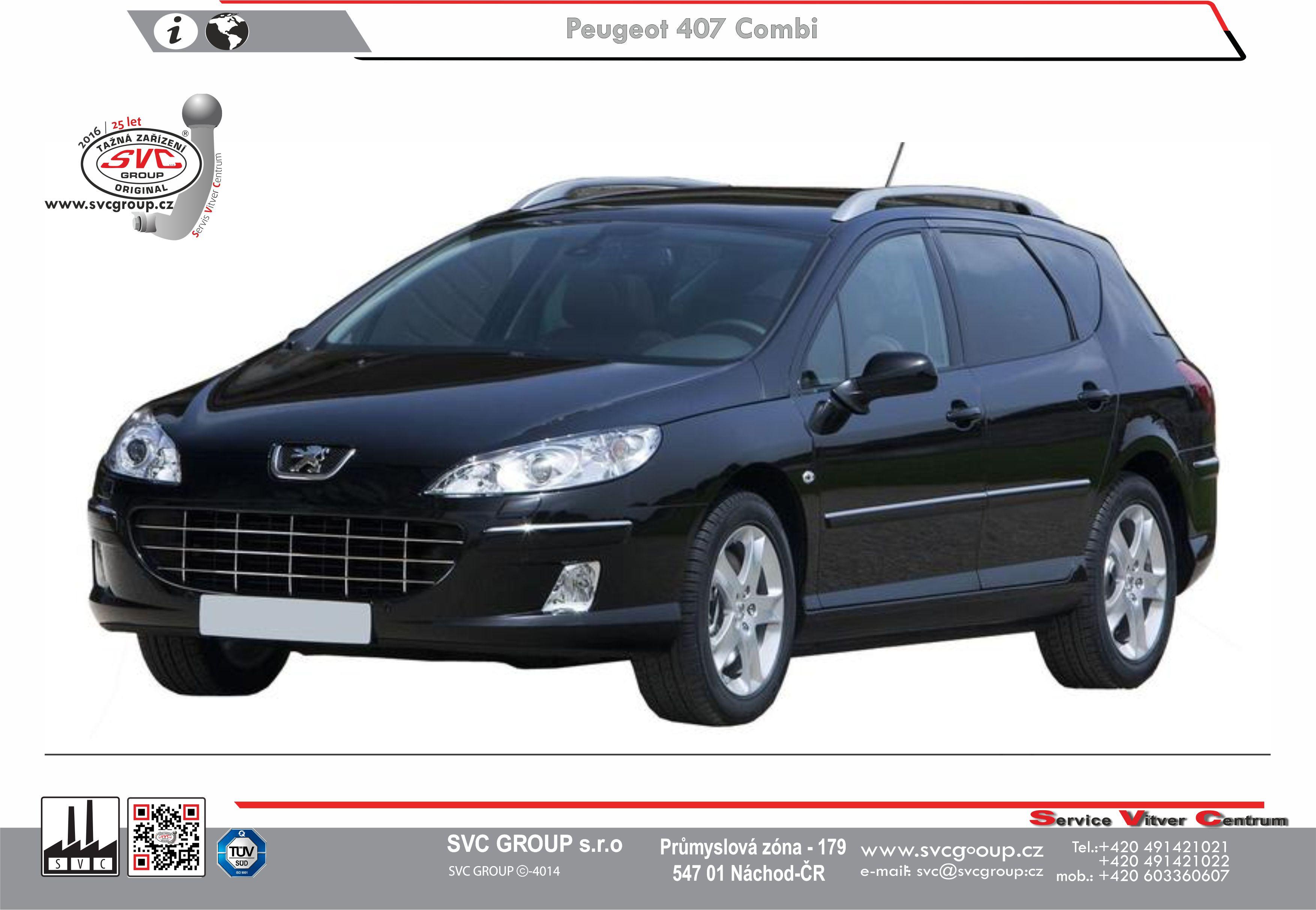Svc Group Konfigurator Tazne Zarizeni A Elektro Pripojky Pro Peugeot 407 Kombi