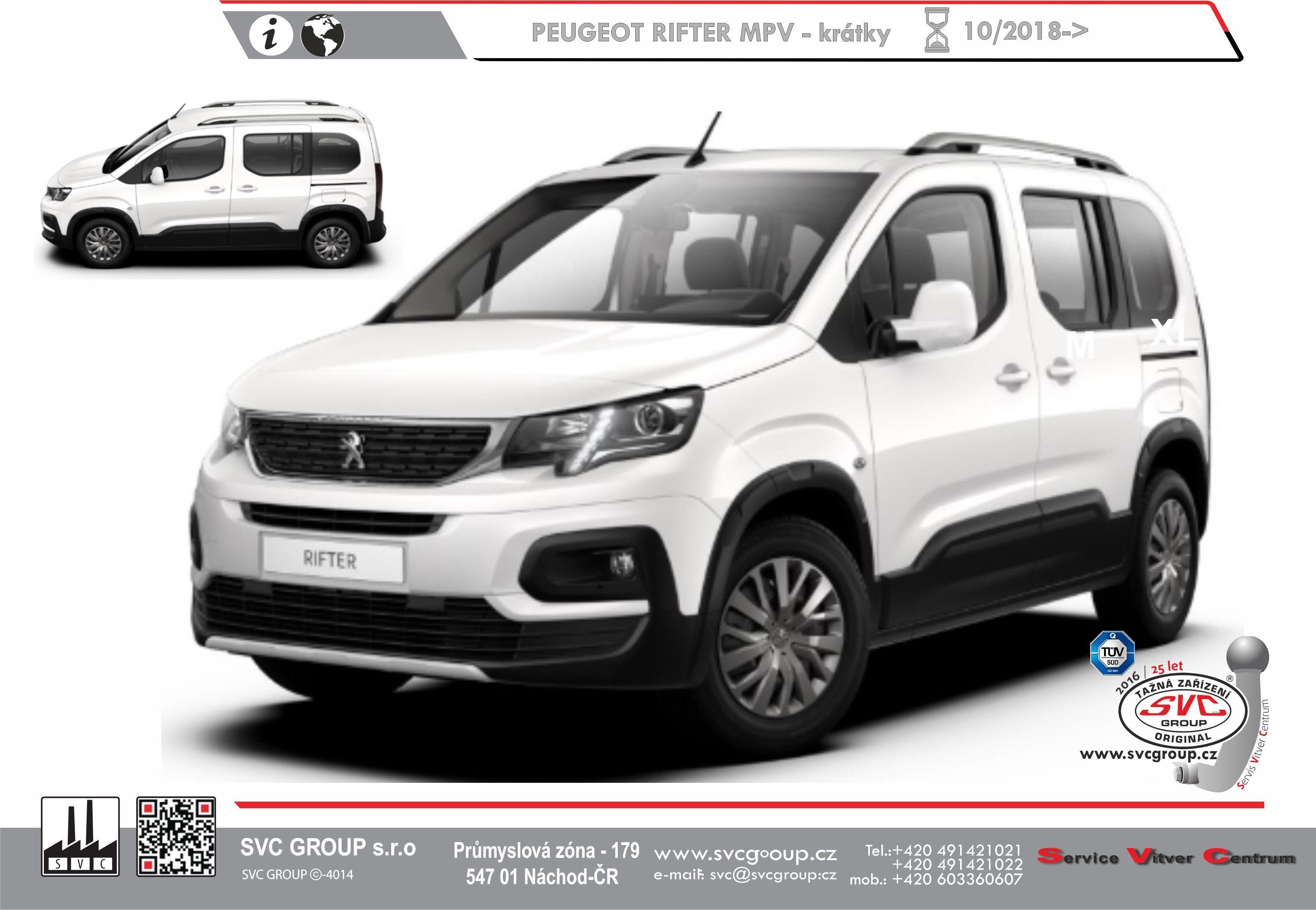 Peugeot Rifter Standardní verze L1