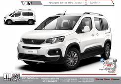 Peugeot Reifter Standardní verze L1 MPV -  Délka vozu 4400 mm Kód vozu: K9/K9F Rok výroby: 10/ 2018 -> Výrobce tažných zařízení SVC GROUP
