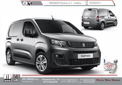 Peugeot Partner Standardní L1 L-1 Délka vozu 4400 mm Kód vozu: 5/5F Rok výroby: 10/ 2018 -> Výrobce tažných zařízení SVC GROUP