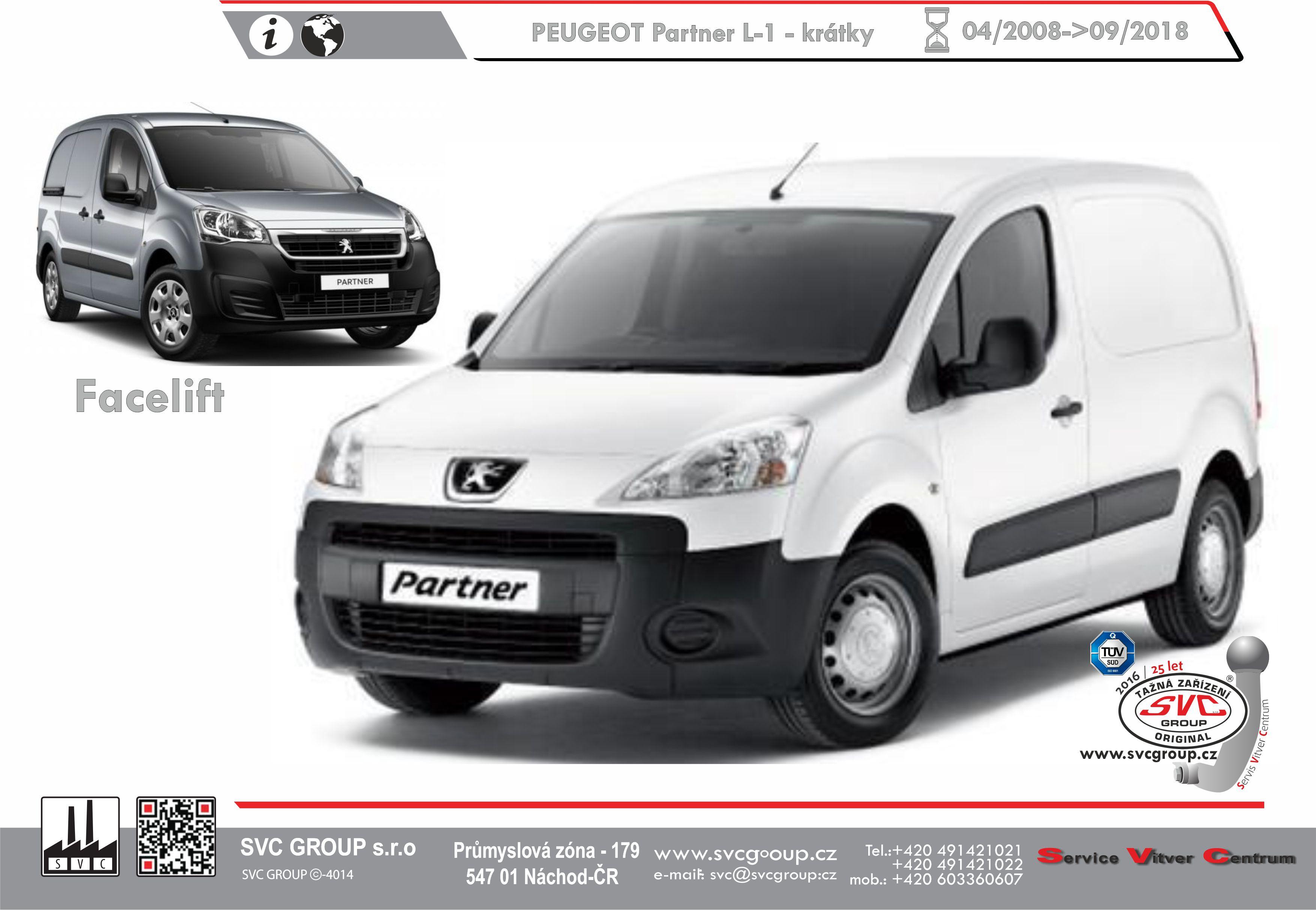 Peugeot Partner Standardní L1