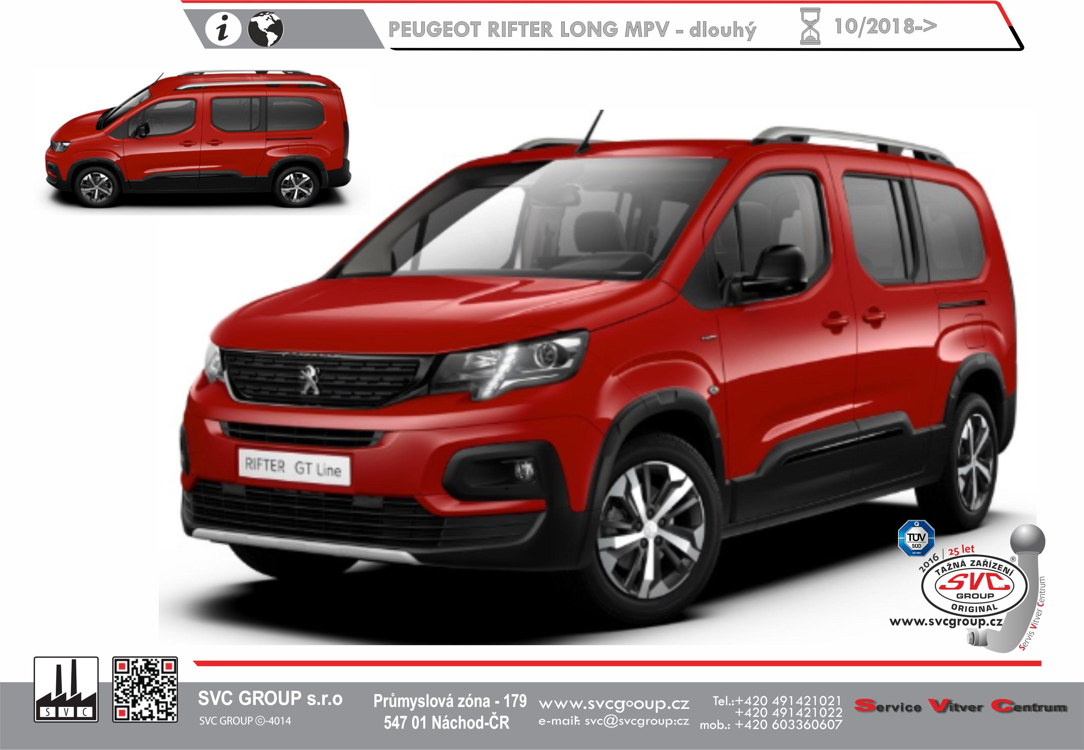 Peugeot Rifter Prodloužené L2 / Long