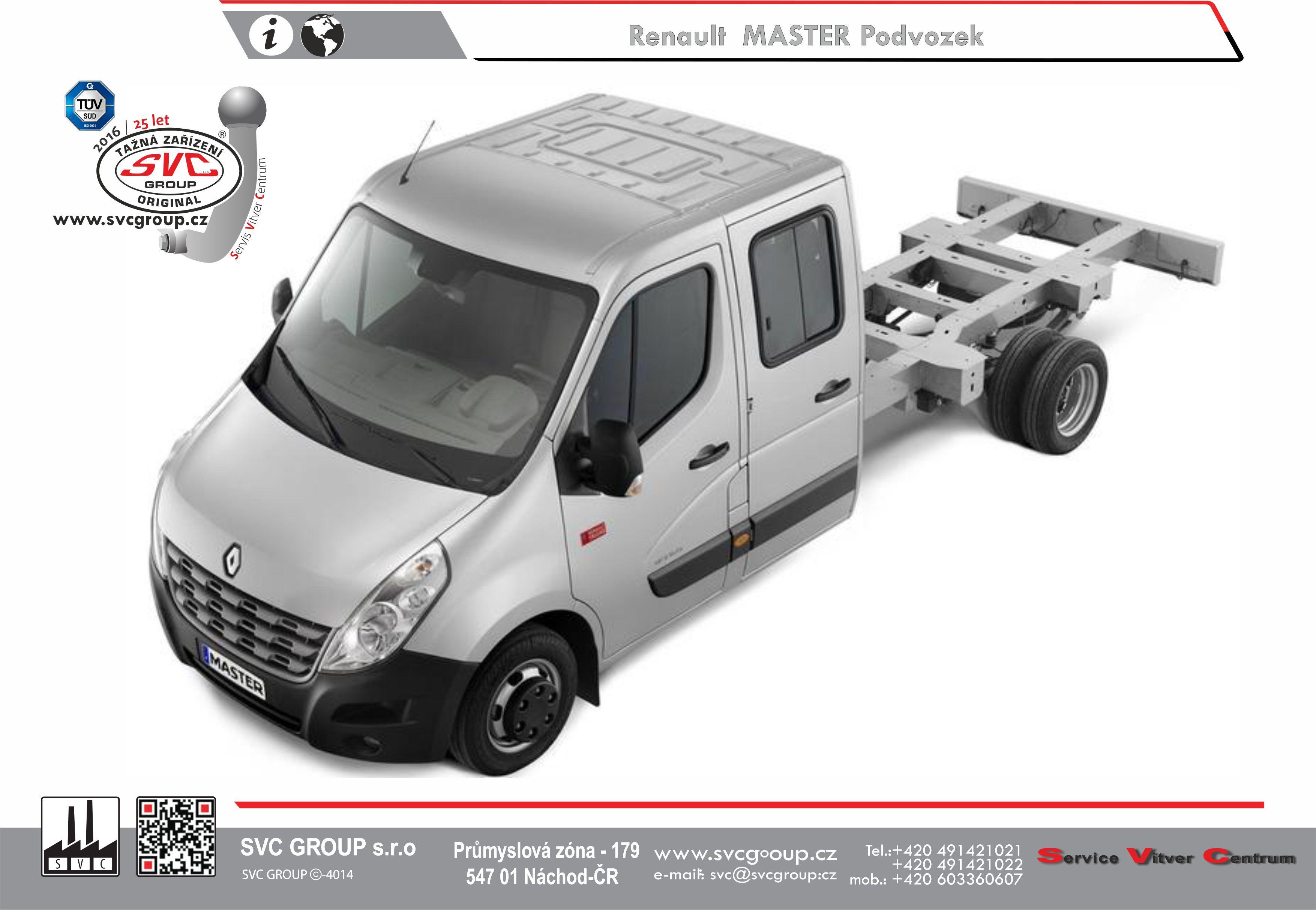 Renault Master Valník / Podvozek