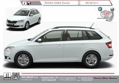 Škoda Fabia Kombi facelift MR 2019 Facelift modelu III, jiné světlomety přední maska  a zadní nárazník vozu s odrazkami.