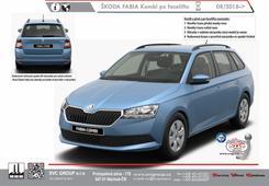 Škoda Fabia Kombi Série: III +Monte Carlo+Scout Kód vozu: N5J Rok výroby: 08/2018-> Výrobce tažných zařízení SVC GROUP