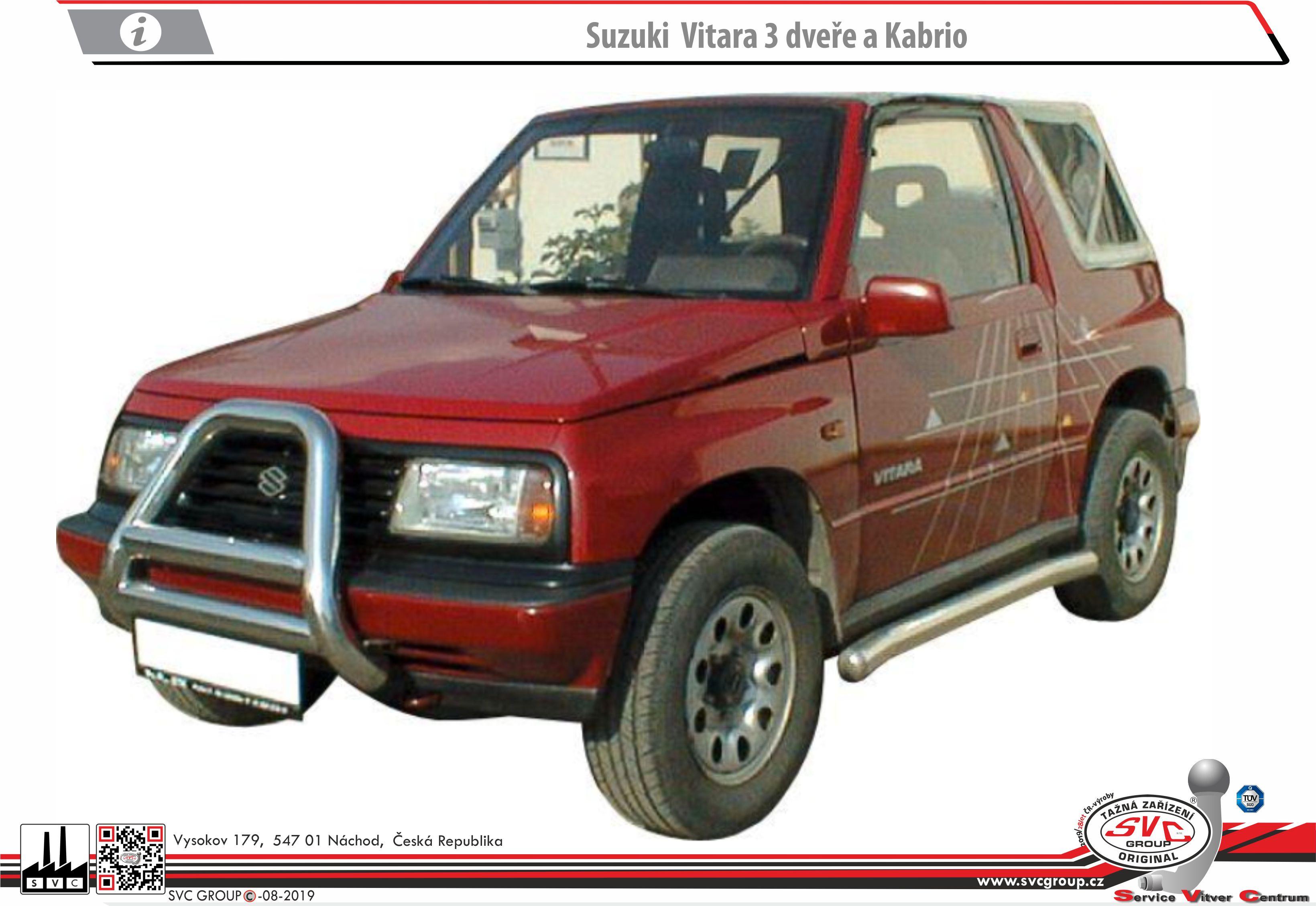 Suzuki Vitara 3 Dveřové provedení